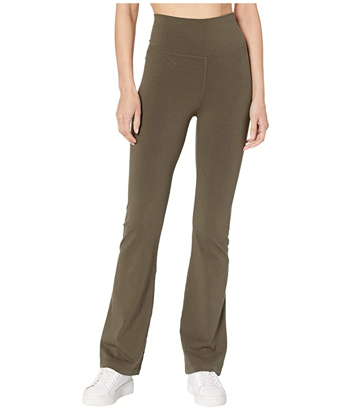 Hard Tail Rolldown Bootleg Flare Pants (Olive) Women