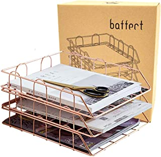 cdhgsh Portadocumenti in Ferro battuto Nordico Scaffale da scrivania Scaffale per riviste Portadocumenti Organizer Portadocumenti Oro