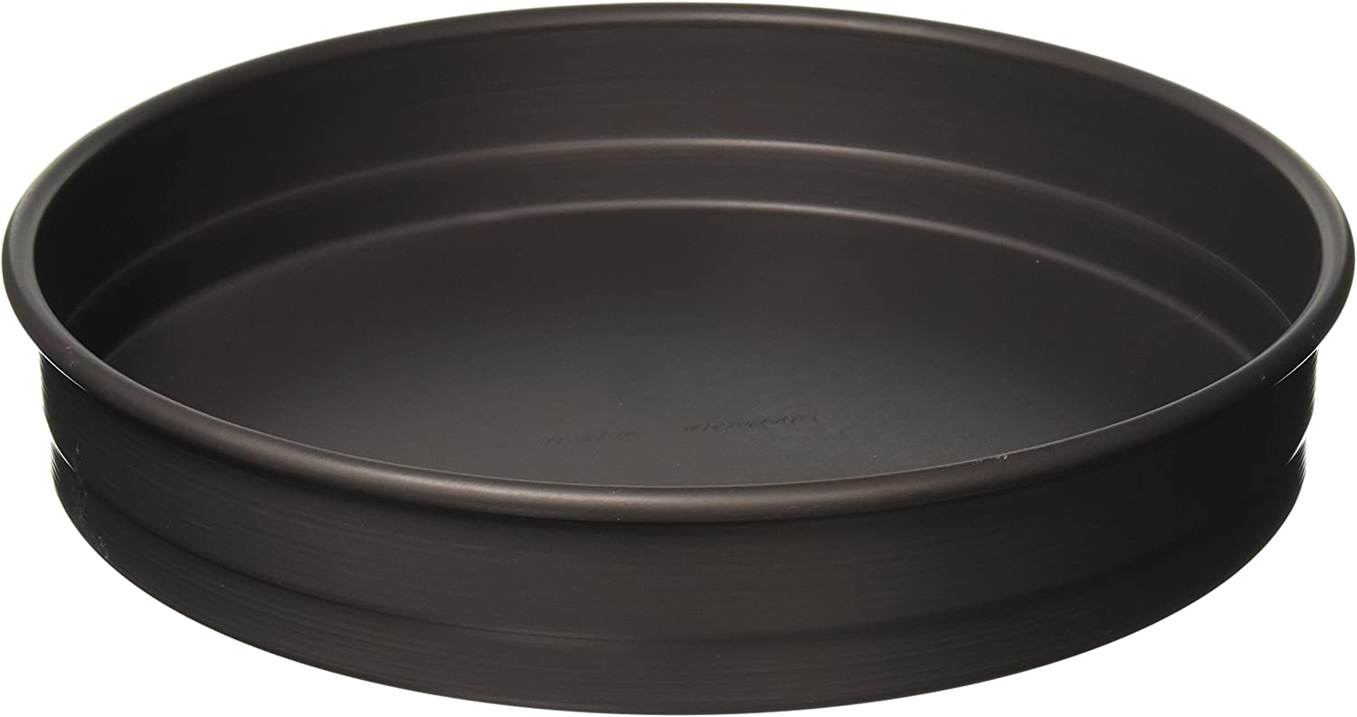 LloydPans HSSR-12X2.25-PSTK Deep Dish Pizza Pan, 12 Inch by 2.25 Inch, Black, Made In the USA, Case of 6