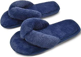 COFACE Mesdames élégant Pantoufle de lit Chaud en Peluche Fourrure Tongs Coton Pantoufle Anti-dérapant Chaussures pour l'a...