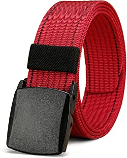 Belt for Men Women, No Metal Belt with YKK Plastic Buckle, Durable Breathable Waist Belt for Work Outdoor Cycling Hiking S...