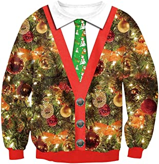 BesserBay Christmas Adult's Sweatshirt Long Sleeve Hoodies Xmas Shirt Ugly Sweater