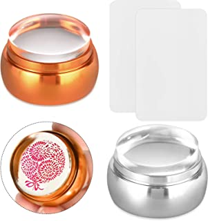 EBANKU 2 PCS Nail Art Stamper Soft Silicone Clear Silicone Jelly Stampers Transparent Scraper Nail Stamping Tool Manicure ...