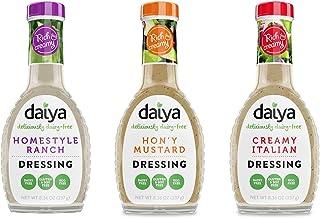 Daiya Salad Dressing Variety Pack, Dairy Free :: Homestyle Ranch, Hon'y Mustard, Creamy Italian :: Vegan, Gluten Free, Soy...
