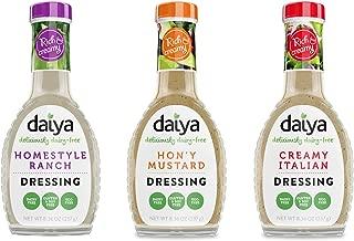 Daiya Salad Dressing Variety Pack, Dairy Free :: Homestyle Ranch, Hon'y Mustard, Creamy Italian :: Vegan, Gluten Free, Soy Free, Egg Free, Non GMO, 8.36 Oz. (3 Pack)