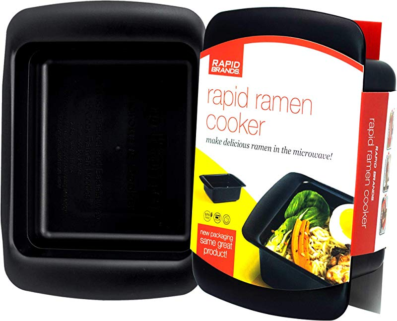 Rapid Ramen Cooker Microwave Ramen In 3 Minutes BPA Free And Dishwasher Safe Black