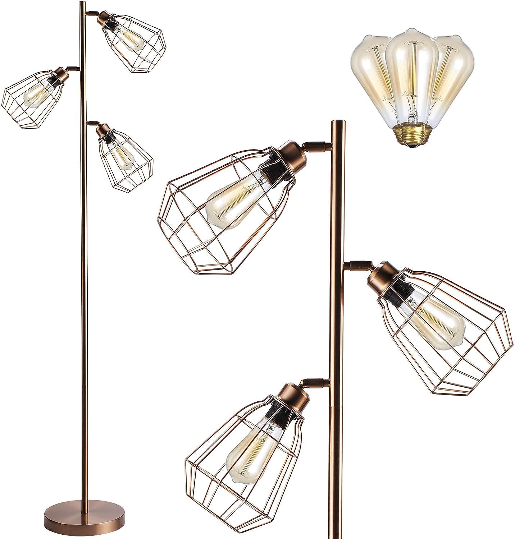 LEONLITE Super intense SALE Industrial Ranking TOP9 Farmhouse Floor Lamp Ligh Plug Listed 3 UL