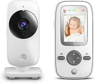 Motorola MBP 481 - Vigilabebés vídeo con pantalla LCD a color de 2.0 modo eco y visión nocturna color blanco