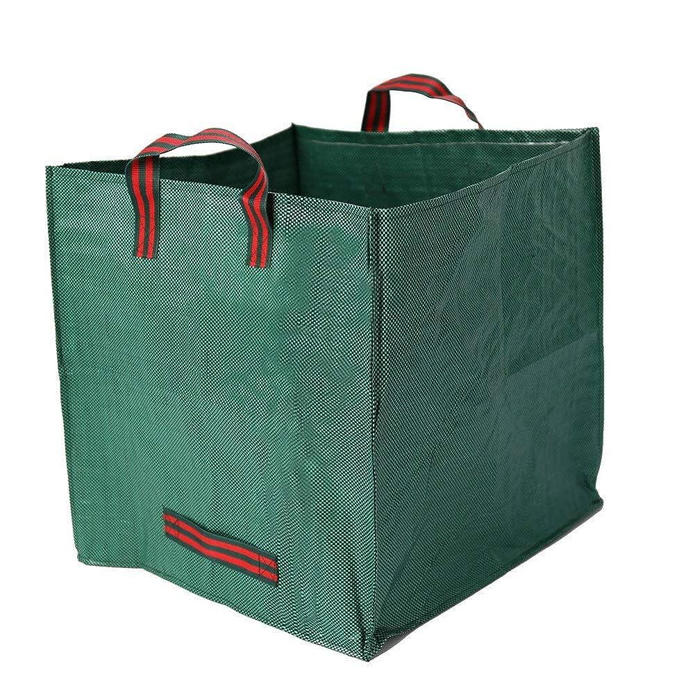超えて事駐地庭用袋 自立ガーデンバケツ ガーデンバッグ 収草袋 折り畳み式 再利用可能 グリーン 50 x 50 x 50 cm