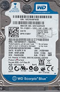 WD1600BEVT-75A23T0, DCM HHBTJANB, Western Digital 160GB SATA 2.5 Disco Duro