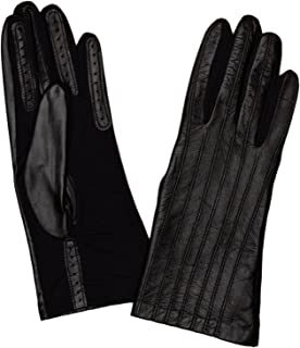 Dents Women's Leather Back And Elastane Palm Fancy Gloves With Silk Back Lining