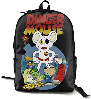 Danger Mouse Adult Backpack Simple And Generous Backpacks School Bag Travel Bag High Capacity Leisure And Convenience Black One Size