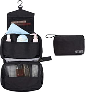 Hanging Toiletry Bag Travel Makeup Organizer Portable and Water, Black, Size 8.7
