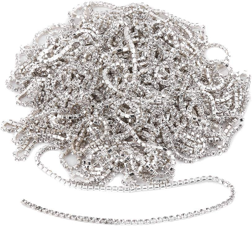 10m Rhinestone Cup Chain Clear Rinestone Free Shipping New Glass Clot Sewing Directly managed store