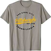 Vintage Pittsburgh Pennsylvania The Steel City Color Text T-Shirt