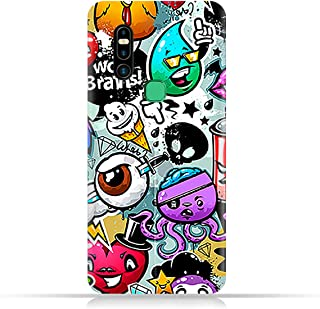 AMC Design TPU Mobile Case Cover for Infinix S5 Pro with Bizarre Characters Pattern