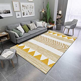 Rugs for Lining Room,Ultra Soft Indoor Modern Area Rugs Golden Triangle Arrow Fluffy Living Room Carpets Suitable for Children Bedroom, Home Decor Nursery Rugs 120X160Cm(4Ft X 5Ft)