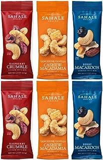 Sahale Snacks Grab And Go Nut Blends 3 Flavor Variety 6 Pack Bundle, (2) each: Raspberry Crumble Cashews, Tangerine Vanilla Mix, Berry Macaroon Almonds (1.5 Ounces)