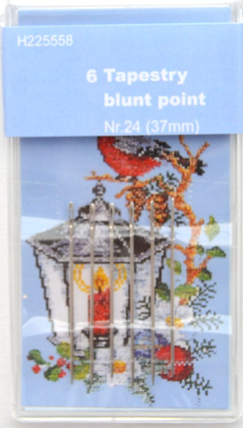 TSL 6 Tapestry Blunt Point Needles, Metal Silver, 24-37 mm