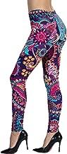 Ndoobiy Women's Printed Leggings Full-Length Regular Size Workout Legging Pants Soft Capri L1