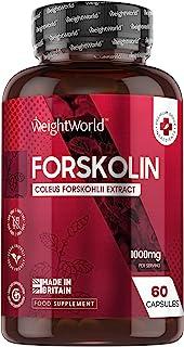 Forskolina Pura Dosis Alta 1000 mg 60 Cápsulas Veganas - Suplemento Dietético Keto Actives de Extracto de Coleus Forskohli...