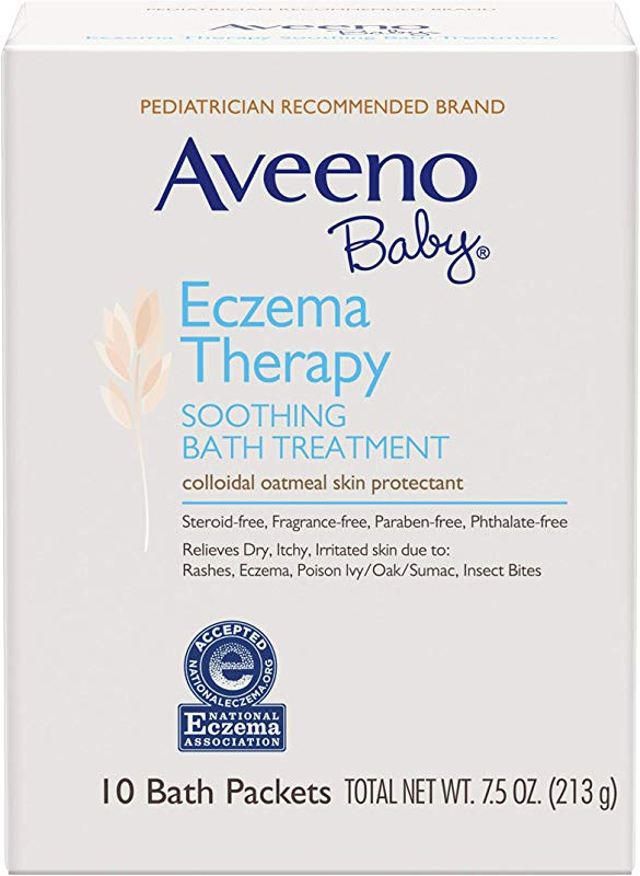 Aveeno Baby Eczema Therapy Soothing Bath Treatment With Natural Oatmeal 10 Ct