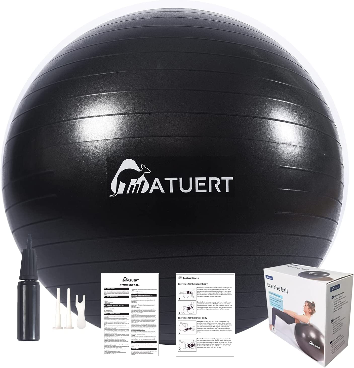 2021 model ATUERT Exercise Manufacturer OFFicial shop Ball 65cm Anti Cha Yoga Thick Extra Burst