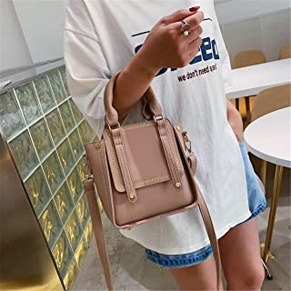 ZZZ Women Bag Fashion Chic Casual Portable Retro Hong Kong Style Single Shoulder Wide Shoulder Strap Slung Tide fashion (Color : Khaki)