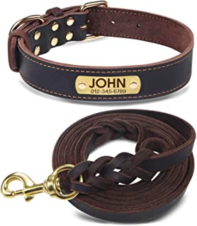 Joytale Personalized Leather Collar Braided