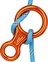 CyberDyer 35KN Figure 8 Descender, Rescue Figure 8 Rappelling Gear Belay Device Aviation Aluminum Rigging Plate for Climbing Belaying and Rappelling