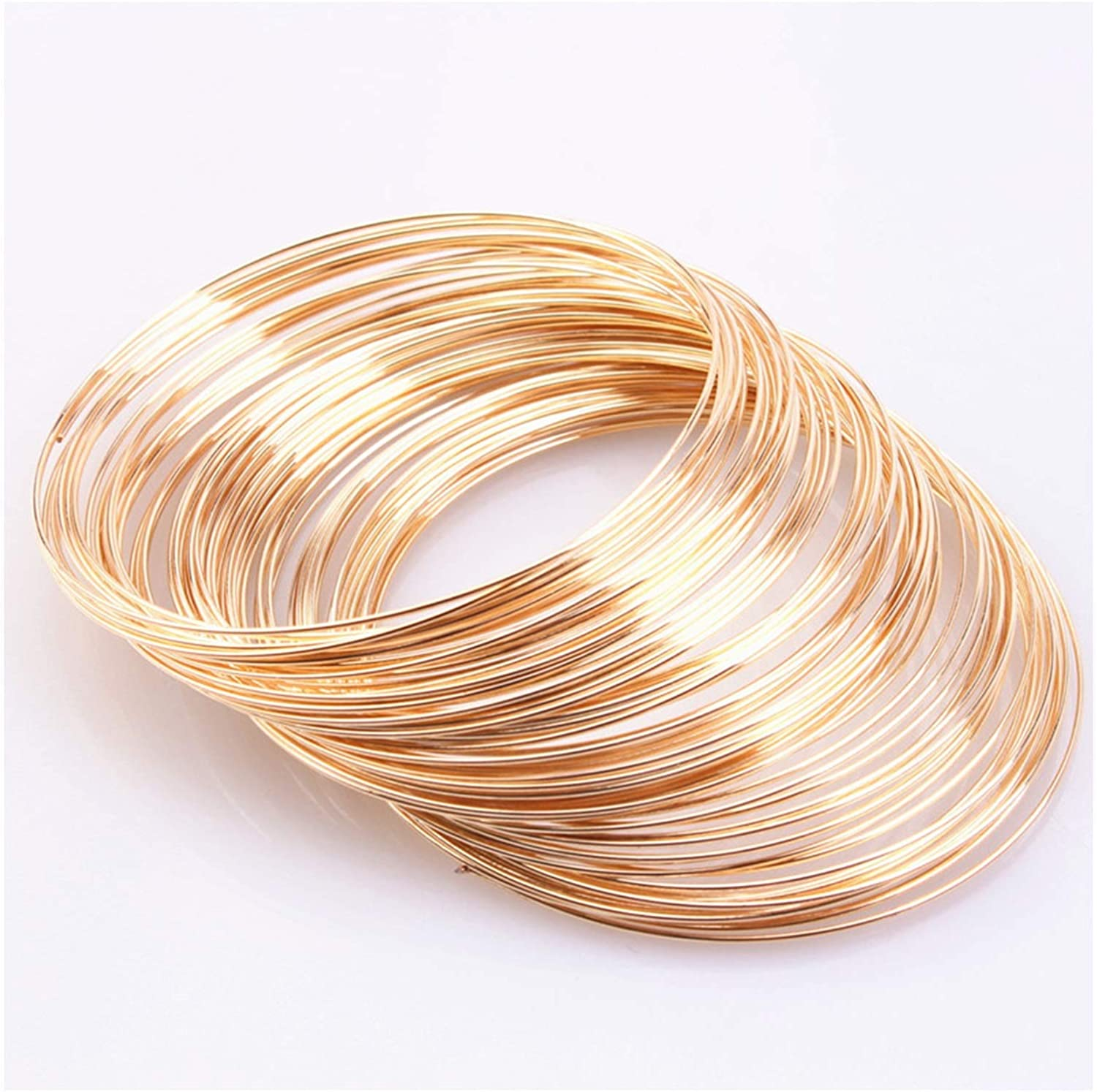 CHUNMA 80 Directly managed store Circles 0.6mm 24Gauge Tone Elegant Wire Jewelry Brace Silver