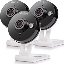 $64 » Funlux Wireless Two-Way Audio Home Security Camera (3 Pack) Smart HD WiFi IP Cameras with Night Vision (Renewed)