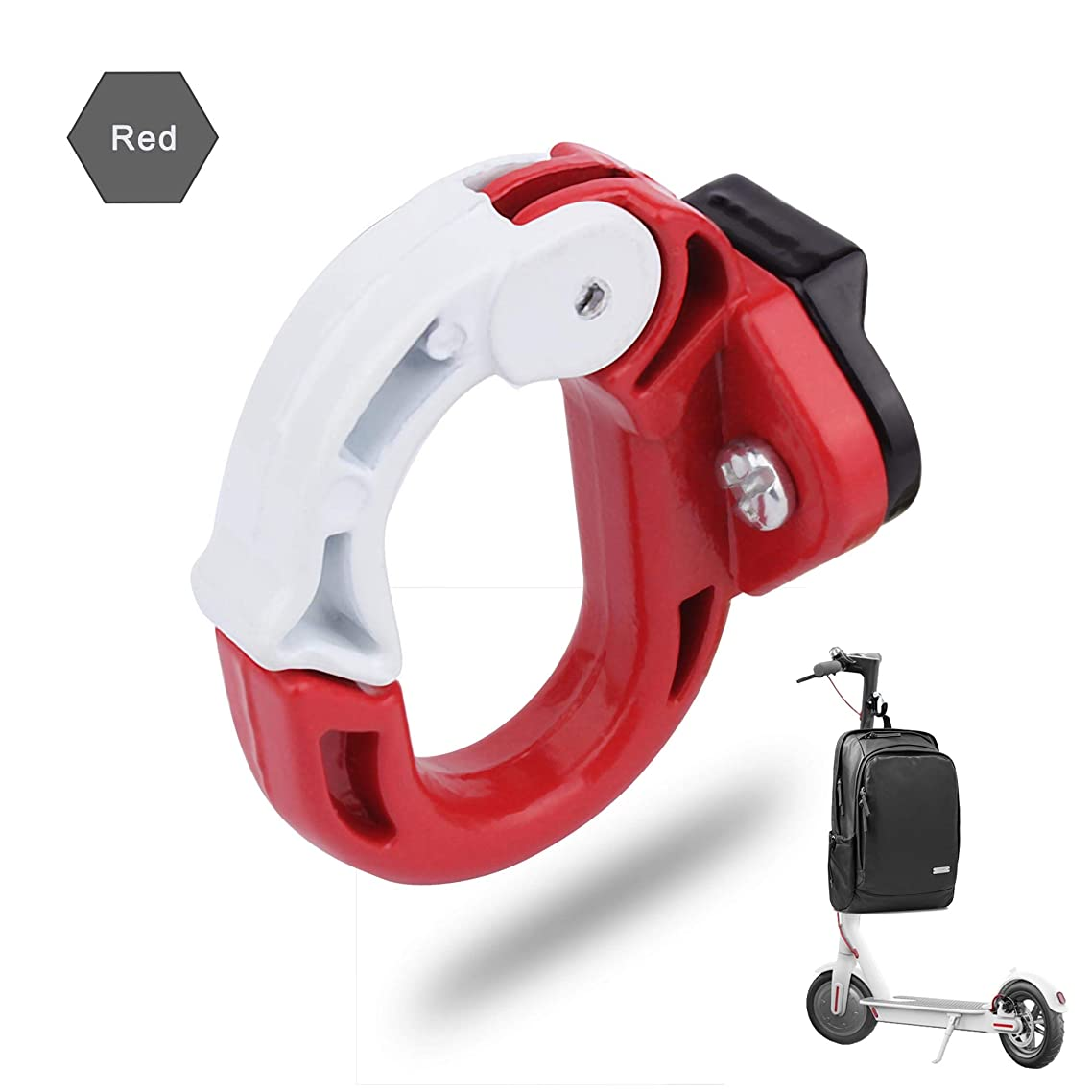 TOMALL Front Claw Hanger Metal Hook Electric Scooter Front Hook Red Aluminum Alloy Holder Hanger for Xiaomi Mijia M365
