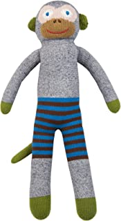 Blabla Mozart The Monkey Plush Doll - Knit Stuffed Animal for Kids. Cute, Cuddly & Soft Cotton Toy. Perfect, Forever Cherished. Eco-Friendly. Certified Safe & Non-Toxic.