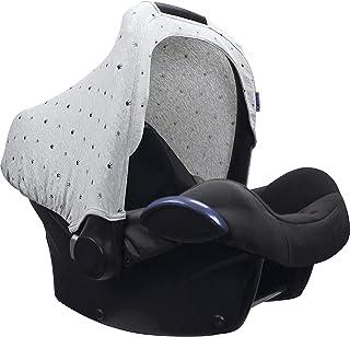 Dooky Hoody protección solar para portabebés de bebe o cochecitos de niño (diseño: Light Grey Crowns, incl. protección UV 40+, grupo de edad 0+, universal adecuado para la mayoría de las marcas), Gris