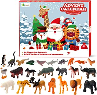 D-FantiX Animals Christmas Advent Calendar 2019 Xmas 24 Days Animal Figure Countdown Advent Calendar Gift for Kids Boys and Girls
