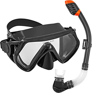 Sponsored Ad - Seals Snorkeling Package Set for Adults, Anti-Fog Tempered Glass Snorke Diving Mask, Anti Leak Snorkel Gear...