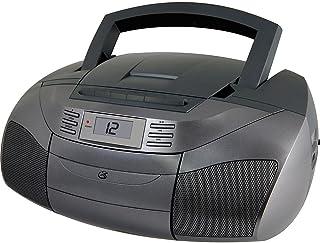 GPX BCA206S Boombox with AM/FM Radio, Grey