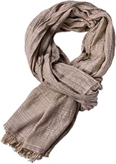 Yateen Men Soft Lightweight Scarves Warm Crinkle Scarf
