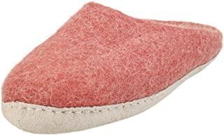 EGOS Womens Slip On Dusty Rose Felted Wool Mule Slippers