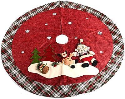 AMMA Falda de árbol de Navidad, decoración de Navidad, Vid de ...