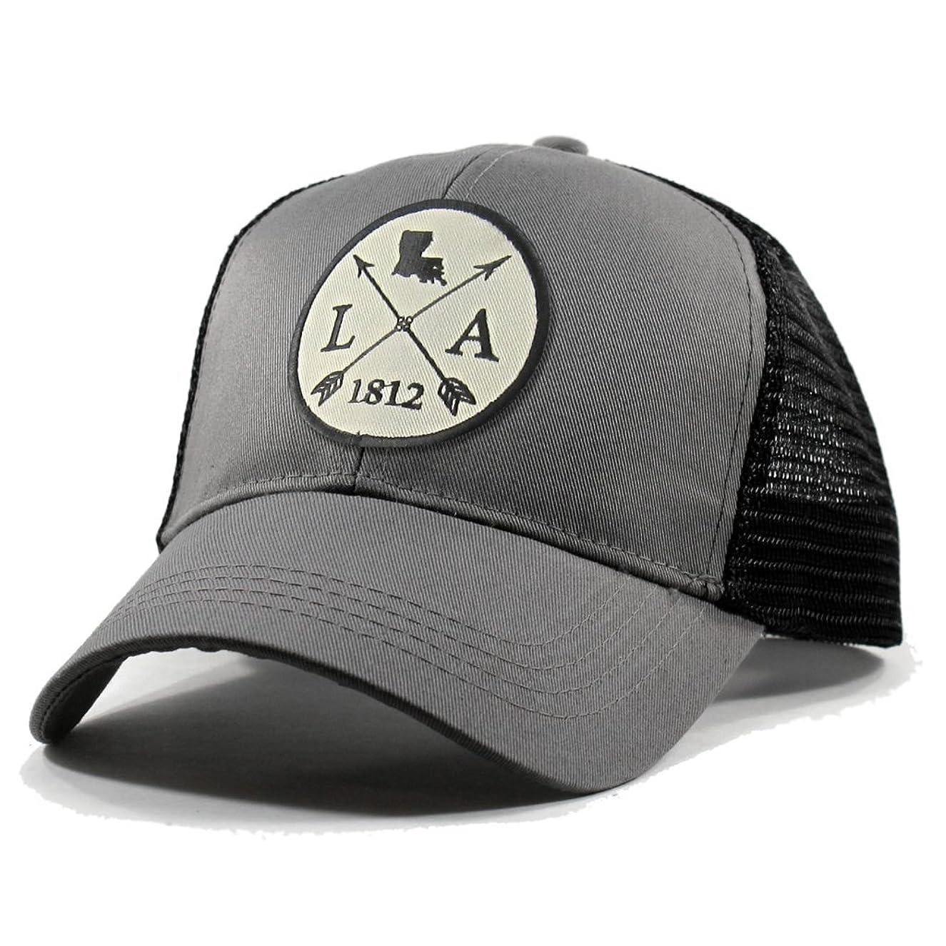 Homeland Tees Men's Louisiana Arrow Patch Trucker Hat