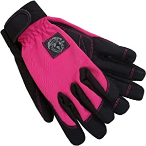 Womanswork 502L  Stretch Gardening Glove with Micro Suede Palm, Hot Pink, Large