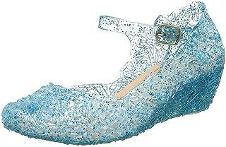 WEXCV Babyschoenen meisjes sandalen kristal doorzichtig roze print wedge prinses schoenen met zachte zolen speciale gelege...