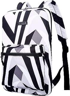 Cartinoe Slim Sleeve Case Style Laptop Backpack Business Travel Backpack College Backpack Computer Backpack Casual Daypack School Bookbag for Teenage Girls Boys fit 13 14 15 inch Laptop -Zebra-Striped
