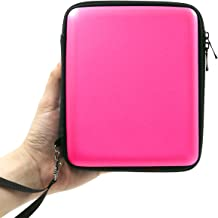 ADVcer 2DS Case, EVA Waterproof Hard Shield Protective Carrying Case with Hand Wrist Strap and Double Zipper for Nintendo 2DS (Pink)
