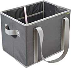 meori Foldable Grocery Granite Grey 14.6 x 11 x 10.25 inches Collapsible Reusable Market Tote Bag Picnic Errands Shopping ...