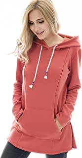 Women's Maternity Sweater Clothes Nursing Sweatshirt Breastfeeding Hoodie with Pockets
