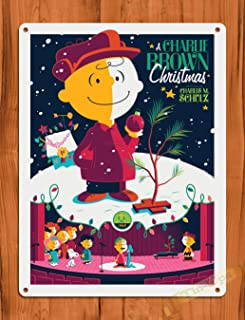 Tin Sign a Charlie Brown Christmas Purple Art Painting Movie Poster Peanuts TIN Sign 7.8X11.8 INCH