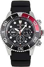 SEIKO Prospex Sea Diver's 200m Chronograph Solar Sports Watch Black/Red SSC617P1
